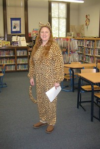 Children's Librarian Carolann Macmaster and her tail!