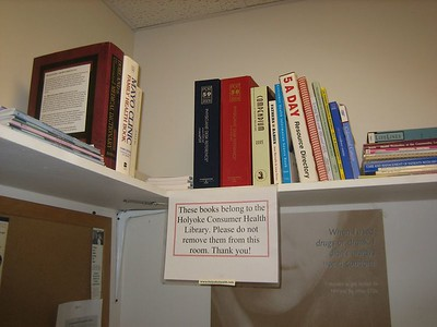 Early stage of the reference collection for Holyoke Health Center.