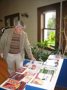 Jim Craig, Biological Sciences Librarian, UMass-Amherst, viewing the new books.