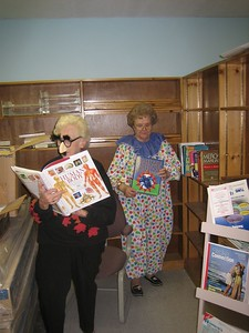 I then invited the writers to examine the books and pose for photos.
