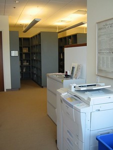 The library only has a single room, but makes good use of space.