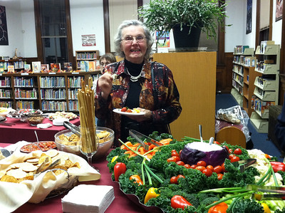 Anne Gorman enjoying the food.   For more photos, see the photos in the ongoing Friends album.