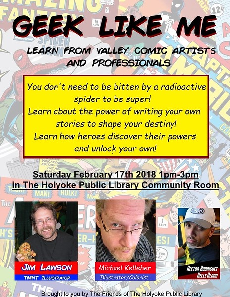 Instead of a whole Comic-Con, Terrence and others decided to start more simply with one panel of speakers.  Would people come?