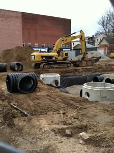 February 27.  Future parking lot across Chestnut St.