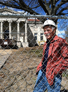 April 6, 2012. Blaine Karr, a member of the library project's building committee.