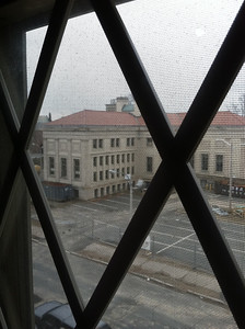 View from Masonic Lodge front window, where we might be able to install a webcam.  (See previous photos for better views from their roof.)
