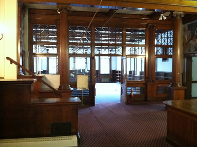 January 13, 2012.  Interior of the old library to be renovated.