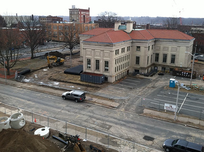 View from roof of Masonic Lodge, Saturday, February 25, 2012
