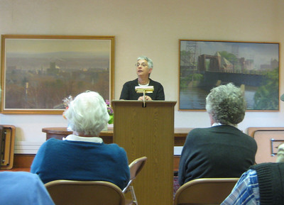 Gail Hornstein spoke about her research and book.  May 20, 2009.