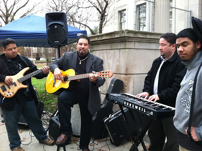 Music by Jay Borges (Library IT Director) and his band