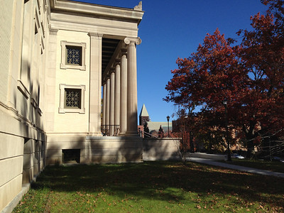 Nov. 4, 2013.  The 1902 side of the library (facing Maple Street) still looks very familiar.