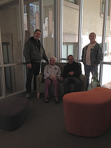 """Members of the """"Fun with Writing"""" group from the Senior Center came for a tour."""