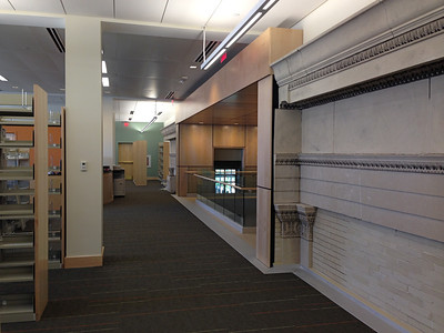 In the adult section on level 4 you can see portions of the top of the old library.