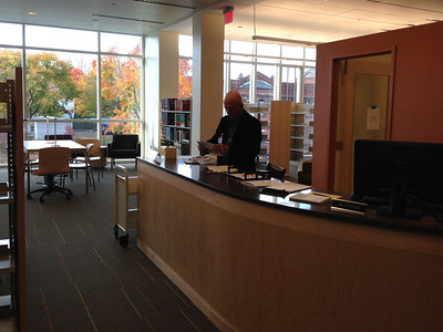Reference desk on Level 4, October 2013.