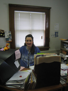 Also upstairs: the office of financial manager Luisa Neves-Jarrett, Holyoke Public Library Corporation.  She has been very helpful in processing invoices for  our NLM-funded health library project.