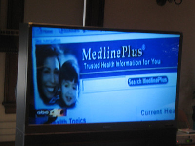 "Channel 40 focused well on MedlinePlus. In the following shots,  they zoomed in on the ""Espanol"" button and then showed a page in Spanish."