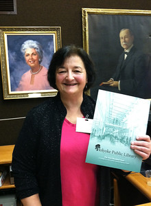 Donna DiCarlo, designer of the graphics for the Library Campaign brochure.  (Click here for pdf of this brochure.)