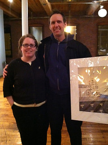 Margaret and Jeremy with their Jeffrey Byrnes print.