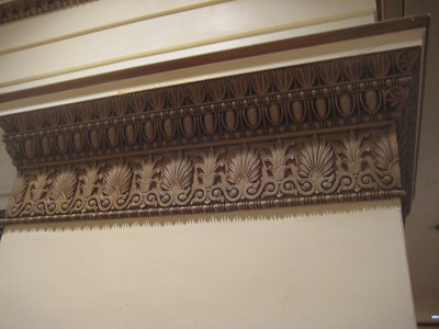 Detail on columns at second floor balcony