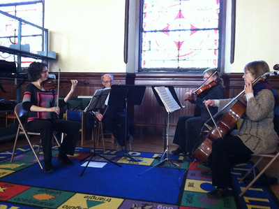 Chamber music during the Re-Opening Ceremony, January 23.