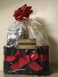 Gift basket of organic, healthy beverages from Spradley Deluxe Coffee