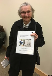 Long term Library volunteer and Friends member Anne Gorman was thrilled to win the supply of high quality paint donated by Sherwin-Williams.