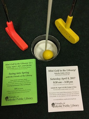Mini Golf in the Library! 2017