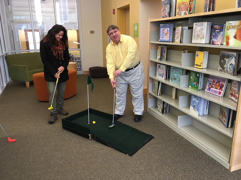 Angela and Robert Lafleur, RVCC Director of IT, practicing...