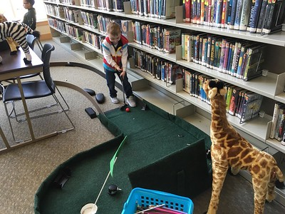 Mini Golf in the Library! 2018