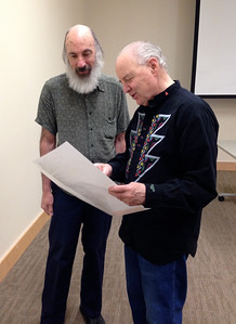 Dan shared his broadside of the long poem about the Holyoke Public Library with Mark Gadboury, who has been this library's custodian since 1980.