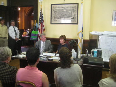 June 24, 2010.  Official signing in the Mayor's Office:     Contract formalizing the partnership between City and Library     Contract with Massachusetts Board of Library Commissioners (for $4.4M grant for Library Building)