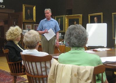 May 3, 2010.  HPL Corporation President Terry Plum explained possible changes in ownership and governance of the Library.  The Corporators voted to authorize the President and the Treasurer to negotiate with the City.