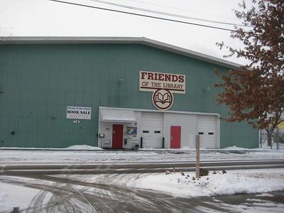 This warehouse, owned by the Friends, is located many blocks from the Tompkins County Public Library.
