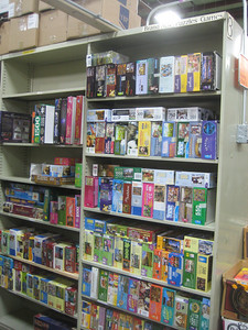 Not just books!  Puzzles...   CDs... DVDs...    vinyl records...