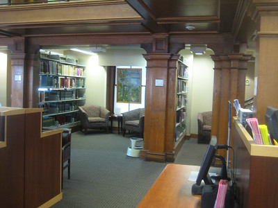 Upstairs in reference room