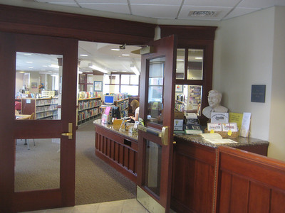 Public view of Children's Library entrance -- just to left of main entrance.