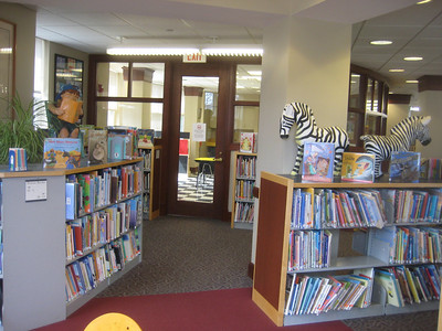 Separate activity room at far end of Children's Library