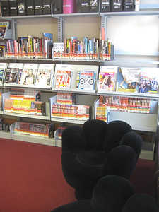 These new chairs are popular with the young adults!   Note also magazines relevant to teens.