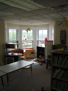 Another good use of corner (tower) window area  - play area for children