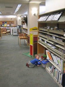 Kid-friendly areas...  even baby-friendly.  (My grandson, age 1, and I spent a rainy November afternoon in this library while his mother worked.)