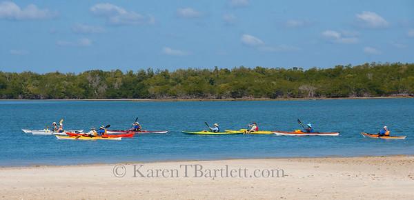9360 Paddlers in colorful kayaks