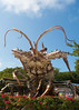 8438 Betsey the Giant Lobster lives at Mile Marker 86.1 on U.S. 1 , at the Rain Barrel Artisan Village , Islamorada in the Florida Keys.