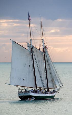 7250 Schooner at sunset, Key West, Florida