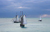 7240 Schooners at sunset, Key West Harbor