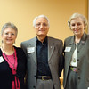 President Roberta Atkinson, author Plato Papajohn, Margaret Truly. March 2008.