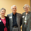 President Roberta Atkinson, author Plato Papajohn, Margaret Truly