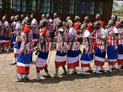 Library Opening Iltalal Village  Kanzi Kenya Africa 16