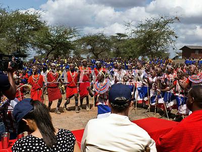 Library Opening Iltalal Village  Kanzi Kenya Africa 17