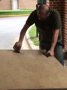 Sanding in action