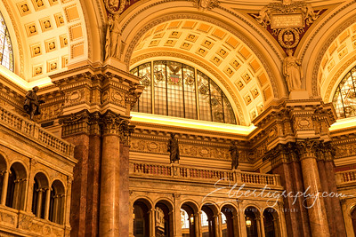 Detail, Library of Congress, Main Reading Room